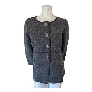 Black and Grey Reversible Cardigan Size Large